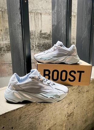 """🔥🔥🔥женские/мужские кроссовки adidas yeezy 700 v2 """"hospital blue"""" (топ качество)"""