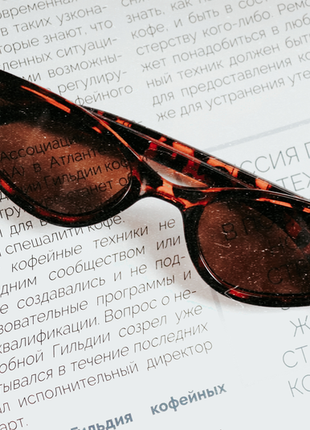 Новые янтарные леопардовые очки cat-eyes