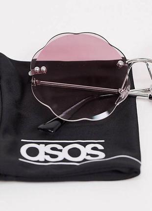 Новые безрамные солнцезащитные очки с розовыми стеклами asos3 фото