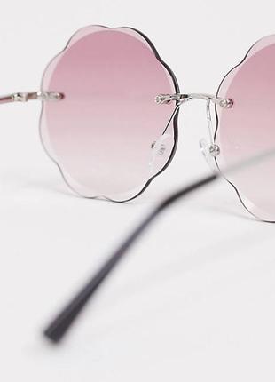 Новые безрамные солнцезащитные очки с розовыми стеклами asos2 фото