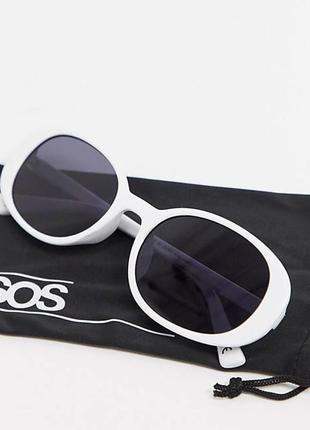 Новые белые солнцезащитные очки овальные asos