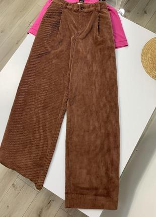 Вельветовые штаны палаццо gap высота посадка
