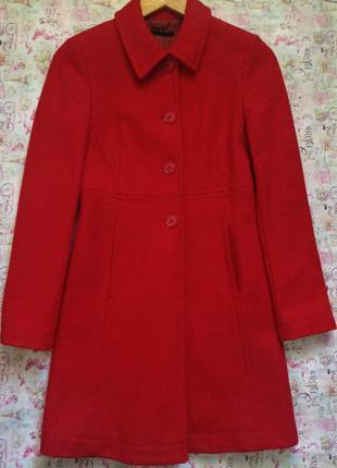 Классическое, приталённое шерстяное пальто от sisley/xs/s