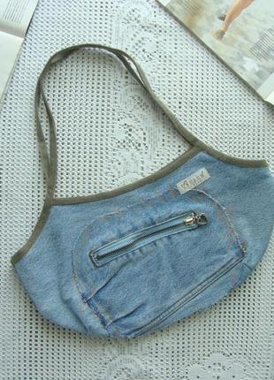 Джинсовая сумочка-корзинка