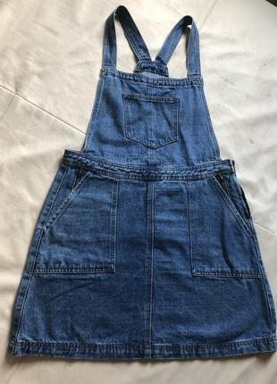 Комбинезон джинсовый платье
