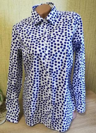 Замечательная фирменная рубашка в горошек