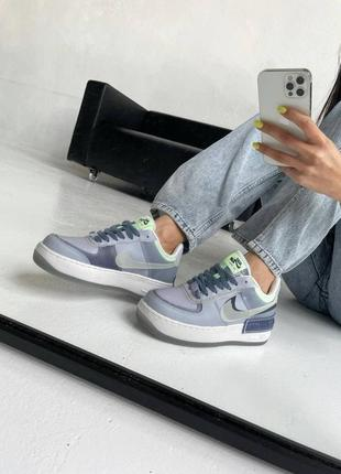 "Nike air force shadow ""ghost blue"" кроссовки найк аир форс наложенный платёж купить"