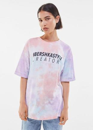 Футболка bershka, футболка тай дай, футболка оверсайз, футболка летняя