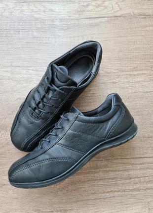 Мокасины кожаные, туфли ecco