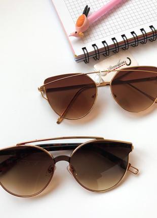 Коричневые солнцезащитные женские очки