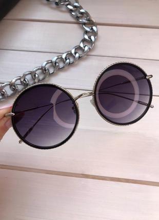 Круглые женские солнцезащитные очки
