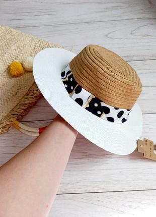 Шляпа соломенная, шляпа для моря, шляпа федора