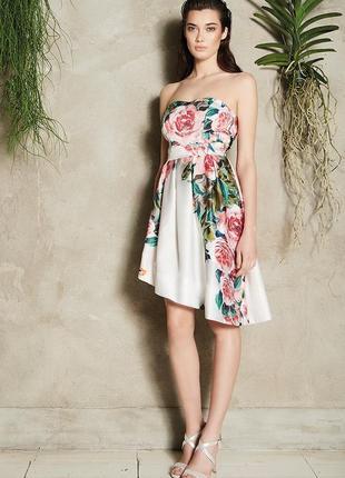 Коктейльное платье rinascimento xs цветочный принт