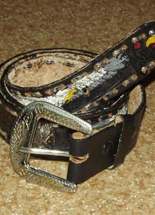 Кожаный ремень cintos imperial mexico
