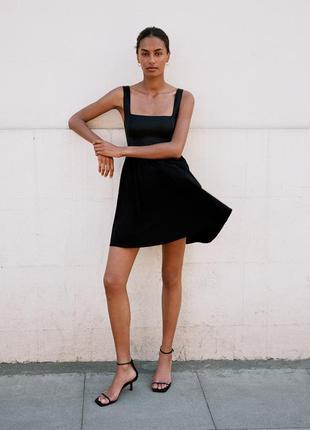 Маленькое черное платье zara р. м нарядное вечернее сукня вечірня