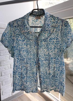Блузка цветочный принт абстракция