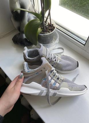 Летние лёгкие тканевые кроссовки adidas