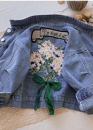 Детская джинсовая куртка, р100-140