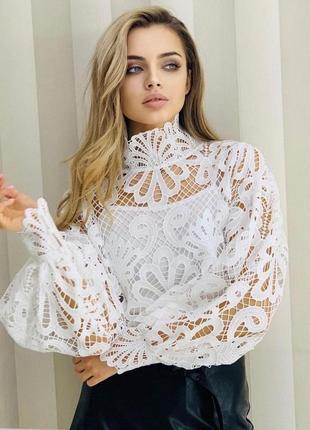 Женская блуза с объёмными рукавами
