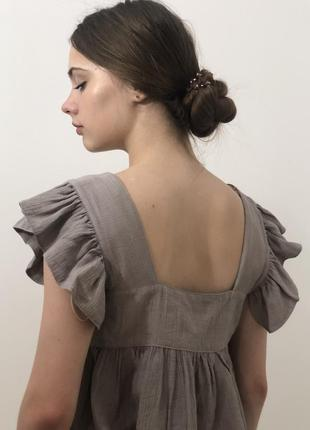 Блуза пісочного кольору від zara3 фото