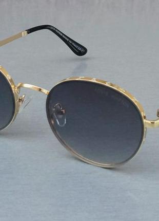 Louis vuitton очки женские солнцезащитные модные серый градиент в золотом металле
