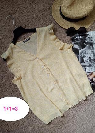 Актуальная блузка на пуговицах/блуза/кофточка/рубашка