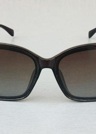 Chanel очки женские солнцезащитные коричневые с бежевыми вставками поляризированые градиент