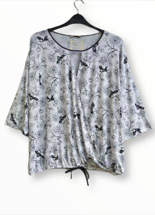 Стильная блузка на запах tu большого размера