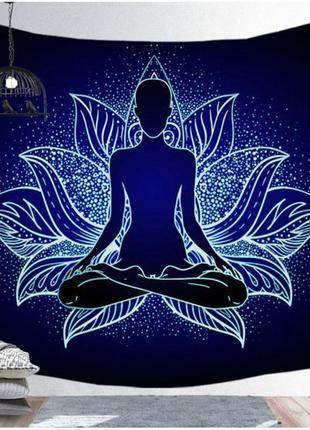 Картина текстильная йога лотос
