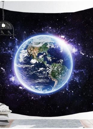 Картина текстильная гобелен настенный космос