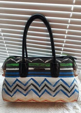 Стильная разноцветная сумка velina fabbiano