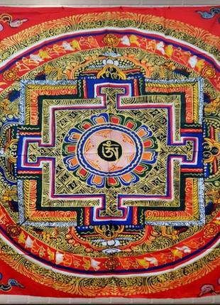 Картина текстильная калачакра гобелен на стену