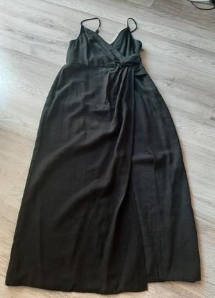 Платье сукня миди с разрезом