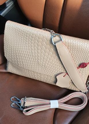 Жіноча  стильна шкіряна сумочка-клатч alex rai