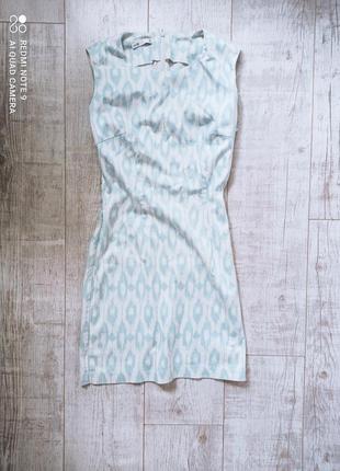 Летнее платье на молнии приталенное oodji