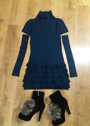 """Мои вещи - ваши цены !!!   теплое платье """"рукавчики"""" 38/м"""