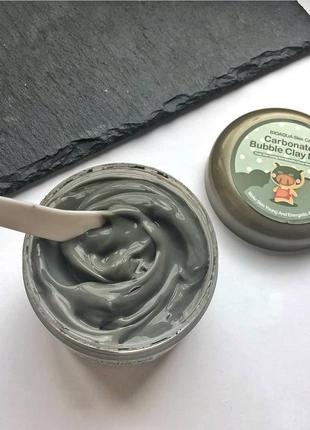 Глиняно-пузырьковая маска для лица bioaqua carbonated bubble clay mask – 100g
