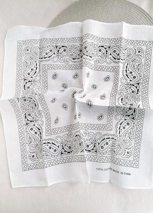 Лёгкая коттоновая бандана платок