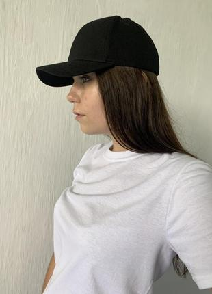 Чорна базова кепка/бейсболка