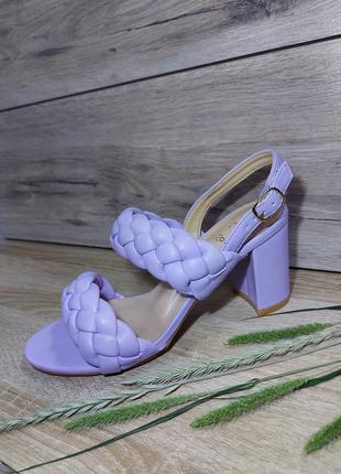 Косички босоножки плетенка 🌿 на каблуке устойчивом косичка сандалии