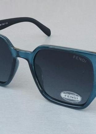 Fendi очки женские солнцезащитные в синей прозрачной оправе