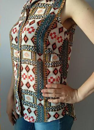 Кольорова літня блузка розмір xs s