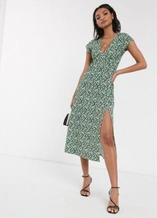 Платье с разрезом topshop