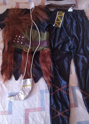 Карнавальный костюм викинга шлем рог 146-158 см