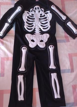 Карнавальный костюм скелета 3-4 года