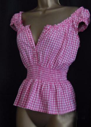 Распродажа натуральный топ блуза asos на пуговицах в pin-up стиле