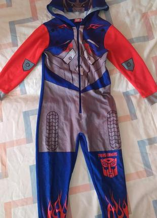 Карнавальный костюм трансформеры пижама 6-7 лет