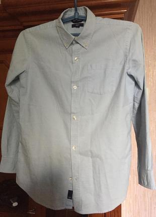 Котоновая фирменная рубашка100% котон