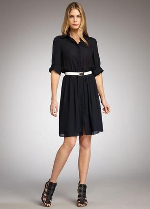 Шелковое платье рубашка