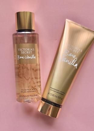 Набор мист и лосьон victoria's secret bare vanilla
